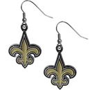 Siskiyou Buckle FDE150N New Orleans Saints Chrome Dangle Earrings