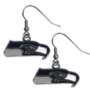 Siskiyou Buckle FDE155N Seattle Seahawks Chrome Dangle Earrings