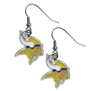 Siskiyou Buckle FDE165N Minnesota Vikings Chrome Dangle Earrings