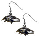 Siskiyou Buckle FDE180N Baltimore Ravens Chrome Dangle Earrings