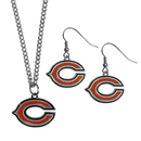 Siskiyou Buckle Chicago Bears Dangle Earrings and Chain Necklace Set, FDEN005FN