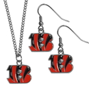 Siskiyou Buckle Cincinnati Bengals Dangle Earrings and Chain Necklace Set, FDEN010FN