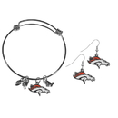 Siskiyou Buckle Denver Broncos Dangle Earrings and Charm Bangle Bracelet Set, FDEN020CBB