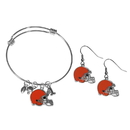 Siskiyou Buckle Cleveland Browns Dangle Earrings and Charm Bangle Bracelet Set, FDEN025CBB