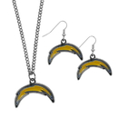 Siskiyou Buckle Los Angeles Chargers Dangle Earrings and Chain Necklace Set, FDEN040FN