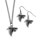Siskiyou Buckle Atlanta Falcons Dangle Earrings and Chain Necklace Set, FDEN070FN