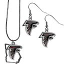 Siskiyou Buckle Atlanta Falcons Dangle Earrings and State Necklace Set, FDEN070SN