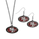 Siskiyou Buckle San Francisco 49ers Dangle Earrings and Chain Necklace Set, FDEN075FN