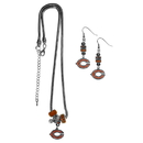 Siskiyou Buckle Chicago Bears Euro Bead Earrings and Necklace Set, FEBE005BNK