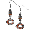 Siskiyou Buckle FEBE005 Chicago Bears Euro Bead Earrings