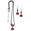 Siskiyou Buckle Cincinnati Bengals Euro Bead Earrings and Necklace Set, FEBE010BNK
