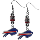 Siskiyou Buckle Buffalo Bills Euro Bead Earrings, FEBE015