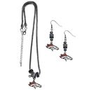Siskiyou Buckle Denver Broncos Euro Bead Earrings and Necklace Set, FEBE020BNK