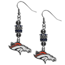 Siskiyou Buckle FEBE020 Denver Broncos Euro Bead Earrings