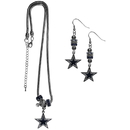 Siskiyou Buckle Dallas Cowboys Euro Bead Earrings and Necklace Set, FEBE055BNK