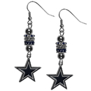 Siskiyou Buckle FEBE055 Dallas Cowboys Euro Bead Earrings