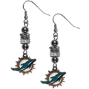 Siskiyou Buckle FEBE060 Miami Dolphins Euro Bead Earrings