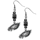 Siskiyou Buckle FEBE065 Philadelphia Eagles Euro Bead Earrings