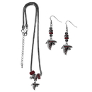 Siskiyou Buckle Atlanta Falcons Euro Bead Earrings and Necklace Set, FEBE070BNK
