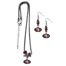 Siskiyou Buckle San Francisco 49ers Euro Bead Earrings and Necklace Set, FEBE075BNK
