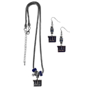 Siskiyou Buckle New York Giants Euro Bead Earrings and Necklace Set, FEBE090BNK