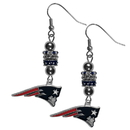 Siskiyou Buckle FEBE120 New England Patriots Euro Bead Earrings