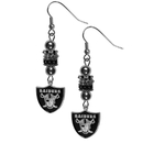 Siskiyou Buckle FEBE125 Oakland Raiders Euro Bead Earrings