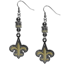 Siskiyou Buckle FEBE150 New Orleans Saints Euro Bead Earrings