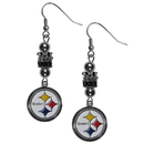 Siskiyou Buckle FEBE160 Pittsburgh Steelers Euro Bead Earrings