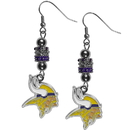 Siskiyou Buckle FEBE165 Minnesota Vikings Euro Bead Earrings