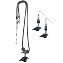 Siskiyou Buckle Carolina Panthers Euro Bead Earrings and Necklace Set, FEBE170BNK