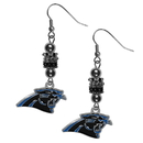 Siskiyou Buckle Carolina Panthers Euro Bead Earrings, FEBE170