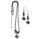 Siskiyou Buckle Jacksonville Jaguars Euro Bead Earrings and Necklace Set, FEBE175BNK