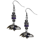Siskiyou Buckle Baltimore Ravens Euro Bead Earrings, FEBE180