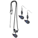 Siskiyou Buckle Tennessee Titans Euro Bead Earrings and Necklace Set, FEBE185BNK