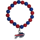 Siskiyou Buckle FFBB015 Buffalo Bills Fan Bead Bracelet