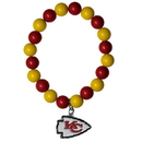 Siskiyou Buckle FFBB045 Kansas City Chiefs Fan Bead Bracelet
