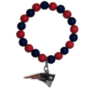Siskiyou Buckle FFBB120 New England Patriots Fan Bead Bracelet