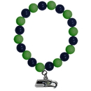 Siskiyou Buckle FFBB155 Seattle Seahawks Fan Bead Bracelet