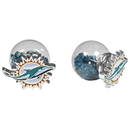 Siskiyou Buckle Miami Dolphins Front/Back Earrings, FFBE060