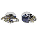 Siskiyou Buckle Baltimore Ravens Front/Back Earrings, FFBE180