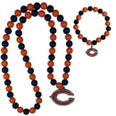 Siskiyou Buckle Chicago Bears Fan Bead Necklace and Bracelet Set, FFBN005FBB