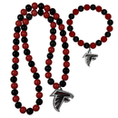 Siskiyou Buckle Atlanta Falcons Fan Bead Necklace and Bracelet Set, FFBN070FBB