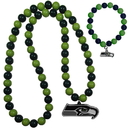 Siskiyou Buckle Seattle Seahawks Fan Bead Necklace and Bracelet Set, FFBN155FBB