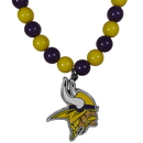 Siskiyou Buckle Minnesota Vikings Fan Bead Necklace, FFBN165