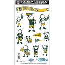 Siskiyou Buckle FFMD115 Green Bay Packers Family Decal Set Medium