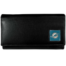 Siskiyou Buckle FFW060 Miami Dolphins Leather Women's Wallet