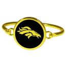 Siskiyou Buckle Denver Broncos Gold Tone Bangle Bracelet, FGBB020