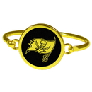 Siskiyou Buckle Tampa Bay Buccaneers Gold Tone Bangle Bracelet, FGBB030