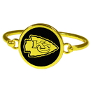 Siskiyou Buckle Kansas City Chiefs Gold Tone Bangle Bracelet, FGBB045
